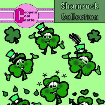 Shamrock Collection (Digital Clip Art) CCC