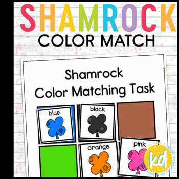 Shamrock Color Match Folder Game for Early Childhood Special Education