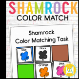 Folder Game: Shamrock Color Matching for Students with Autism & Special Needs