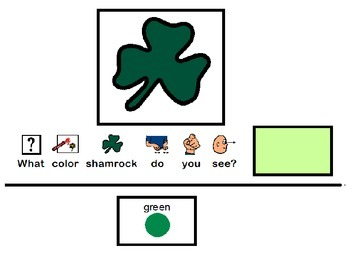 Shamrock Color Matching - Adapted Book / File Folder / Autism Special Education