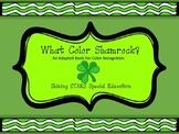 Shamrock Color Matching - Adapted Book / File Folder / Aut