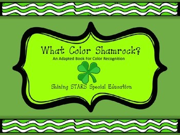 Shamrock Color Matching - Adapted Book / File Folder / Aut
