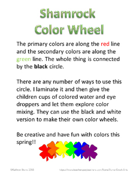 St Patricks Day Shamrock Color Wheel