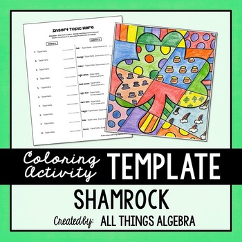 Coloring Activity Template: Shamrock (Personal Use Only)