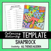Coloring Activity Template: St. Patrick's Day Shamrock (Pe