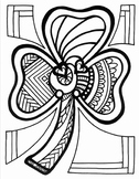 Shamrock Coloring Page   Spring   Easter