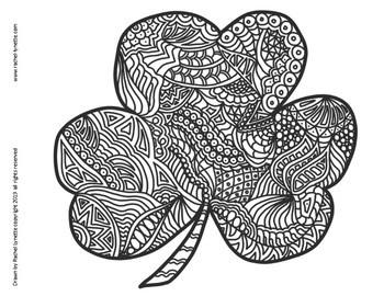 St. Patrick's Day coloring pages - Leprechaun and shamrock | 270x350