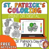 Shamrock Coloring Pages for St. Patrick's Day!