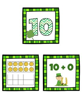Shamrock Composing Teen Numbers Match