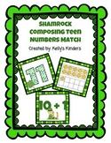 Shamrock Composing Teen Numbers Match