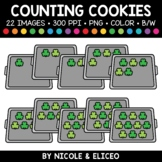 Shamrock Cookie Counting Clipart