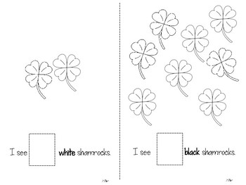 Shamrock Count and Cut Emergent Reader (Numbers 1-10)