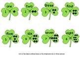 Shamrock Counting 1-30 Number, Words, and Picture