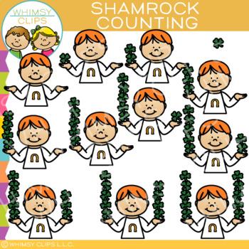 Shamrock Counting Clip Art