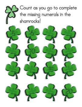 Shamrock Counting Fill-in-the-Blank