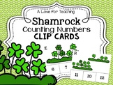 Shamrock Counting Numbers Clip Cards {Print & Go + Digital}