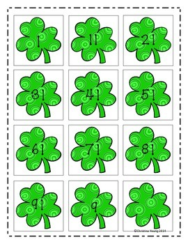 Shamrock Counting to 100