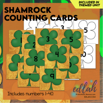 Shamrock Counting/Ordering Cards (St. Patrick's Day)