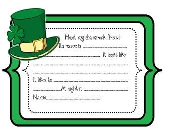 Shamrock St. Patrick's Day Craftivity