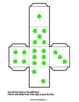 Shamrock Cube for St. Patrick's Games That Use Dice