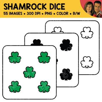 Shamrock Dice Clipart