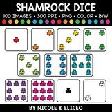 Rainbow Shamrock Dice Clipart