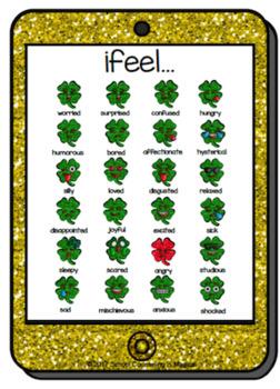 Shamrock Emoji Flashcards (and bonus feelings chart)