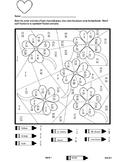 Shamrock Equivalent Fraction Coloring Sheet