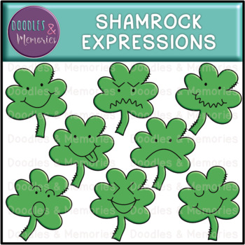 Shamrock Expressions Clipart