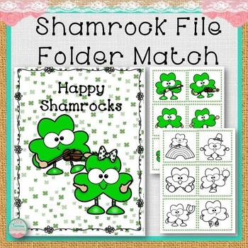 Shamrock File Folder Match