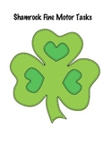 Shamrock Fine Motor Tasks for Special Education or Early C