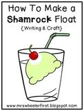 Shamrock Float Writing