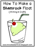 St. Patrick's Day Shamrock Float Writing