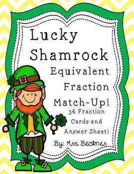 Shamrock Fraction Match-Up!