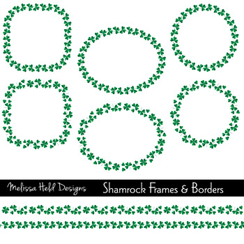Shamrock Frames and Borders Clipart