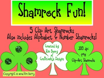 Shamrock Fun:  Alphabet Letters, Numbers, and Clip Art