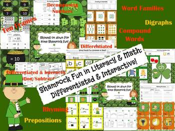 Shamrock Fun in Literacy & Math: Differentiated and Interactive!