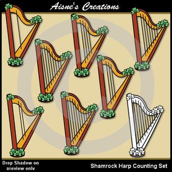 Shamrock Harp Counting Set Clip Art