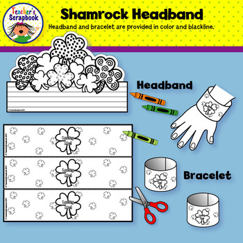 Shamrock Headband & Bracelets Craft Activity