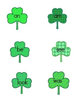 Shamrock High Frequency Words
