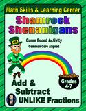 St. Patrick's Day Math Skills & Learning Center; Add & Sub