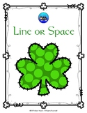 Shamrock Line or Space Music Note Coloring