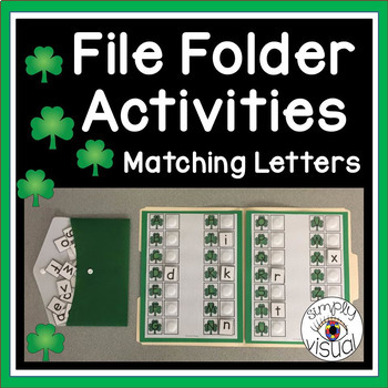 St. Patrick's Day Matching Letters File Folder Activity