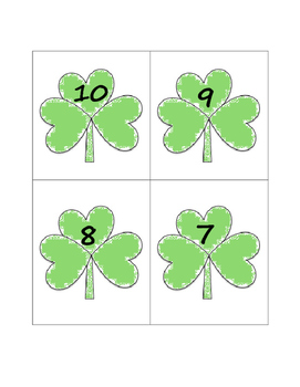 Shamrock Matching Numbers & Quantities