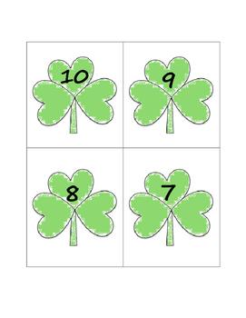 Shamrock Matching Numbers & Quantities