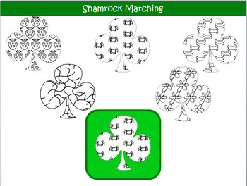 Shamrock Matching (Patterns)-Interactive Powerpoint