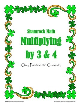 Shamrock Math: 3 and 4 Times Tables