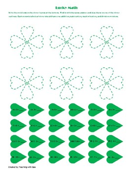 Shamrock Math Facts