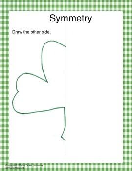St. Patrick's Day Shamrock Math Color Sheet Fun!