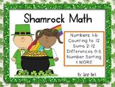 Shamrock Math - PreK, Kindergarten, First